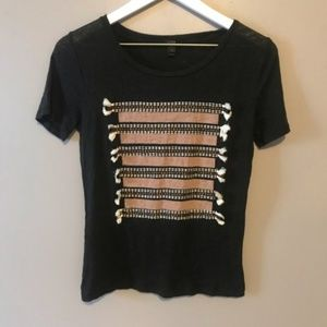 3 FOR $25 SALE J. Crew Tribal Pattern Tee Size XS